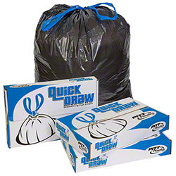 Pitt Quick Draw Drawstring Liner - 33 x 39, 1 mil, Black