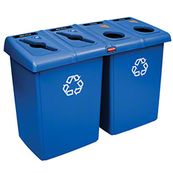 Rubbermaid® Four Stream Glutton® Recycling Station -Blue