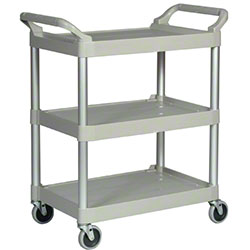 "Rubbermaid® Utility Cart w/4"" Casters - 200 lb., Platinum"