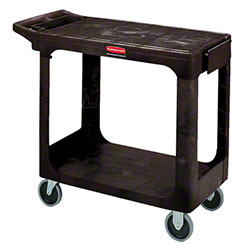 "Rubbermaid® Flat Shelf Utility Cart - 37 7/8"" L, Black"