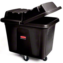 Rubbermaid® Cube Truck - 16 cu ft, Black