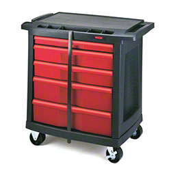 Rubbermaid® 5-Drawer Mobile Work Center - Black