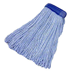 Tuway™ Blended Cotton Cut End Mop - 20 oz./#24, Blue