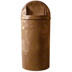 Impact® Brown Bullet Plastic Indoor/Outdoor Receptacle