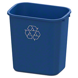 Impact® Value-Plus™ 28 Qt. Recycle Wastebasket - Blue