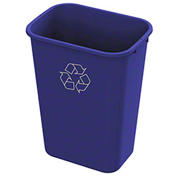 Impact® Value-Plus™ 41 Qt. Recycle Wastebasket - Blue