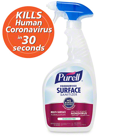 PURELL FOOD SERVICE SURFACE SPRAY SANITIZER 32OZ 6/CS