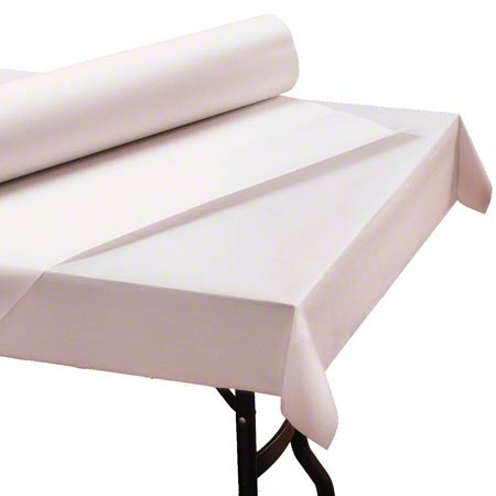 "40"" X 300' WHITE 1PLY PAPER TABLE-"