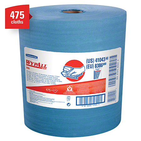"""X80 BLUE WYPALL JUMBO ROLL 475/RL HYDROKNIT 12.5""""X13"""""""