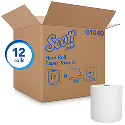 "Scott® Essential Hard Roll Towel - 8"" x 800', White"
