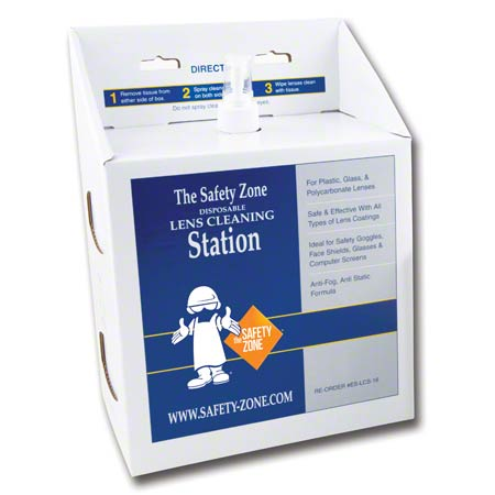 SAFETY ZONE 16 OZ ANTI-FOG LENS CLEANING STATION 4/CS